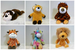 New Novelty Hot Water Bottle With Soft Plush Safari Animal Cover Ideal Kids Gift