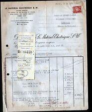"""PARIS (VIII°) MOTEURS & MATERIEL ELECTRIQUE """"S.W."""" en 1943"""