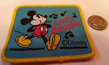 """MICKEY Mouse let's boogie Sew on patch  New  2.5"""" x 2"""""""