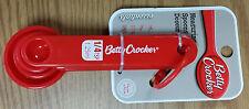 new, Measuring Spoons - Red - Betty Crocker teaspoons