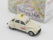 Herpa Citroen 2 CV 6 Ente Taxi Inter Spielwarenmesse IAA 96 OVP 1608-04-98