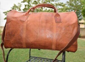 Bag Leather Kodiak Travel Duffel Luggage Gym Weekend Men Brown Handmade Holdall