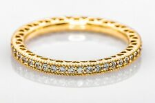 Pandora Women's 14K Yellow Gold and Cubic Zirconia Band Ring Size 8.25