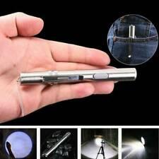 10000lumens Portable Super Bright LED USB Rechargeable Pen Pocket Torch Lamp Us.