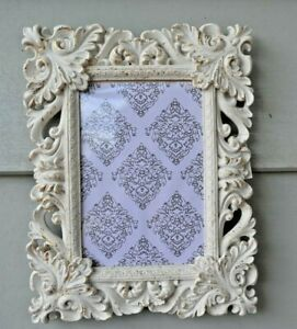 23cm Fillagree Photo Frame With Gold Brush Wall Art   Home Decoration