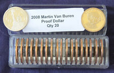 2008 S President MARTIN VAN BUREN  20 Proof Presidential Dollars In Coin Keeper