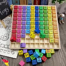 Montessori Spielzeug Einmaleins Mathematik Lernspiel Kinder Zahlen für Holz