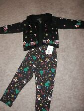 Toddler Girls 2T Copper Key sweater  /pants christmas tree  theme Outfit NEW