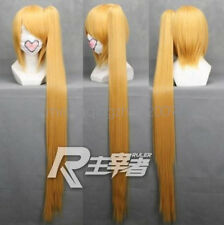 NEW 90CM long vocaloid-Akita Neru Anime Cosplay wig+1Clip On Long Ponytail wigs