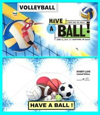 Volleyball Have a Ball First Day Cover with Color Cancel