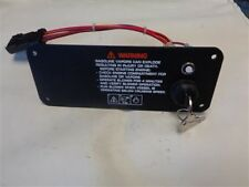 "IGNITION PANEL W / PUSH TO RESET BLACK ALUMINUM 7 3/4"" X 3"" MARINE BOAT"