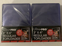 50 Ultra PRO 3x4 inch Regular Toploaders - 50 Penny Sleeves - FAST SHIP