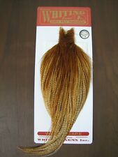 Fly Tying Whiting Silver Rooster Cape Barred Dark Ginger #A