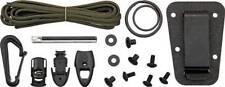 ESEE Izula Kit Parts Black Clip Plate Paracord Split Rings and More ESIZKIT