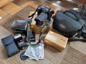 Nikon D50 mit Zubehörpaket Objektiv Sigma 18-200 F3,5-6,3 DC, Blitz Nikon OVP