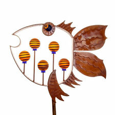 Borowski Glass Studio Sculptures- Flying Fish Wind Vane- Outdoor Objects-NEW