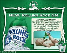 Rolling Rock Beer Funny  Advertising  Refrigerator, Tool Box  Magnet