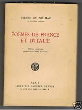 POEMES DE FRANCE ET D'ITALIE  PIERRE DE NOLHAC  1925