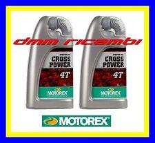 2 Litri Olio Motore 4 tempi MOTOREX Cross Power 4T 10W/50 100% Sintetico (KTM)