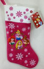 "Disney Princess 18"" Christmas Stocking Cinderella Aerial Belle Musical 18"" NEW"