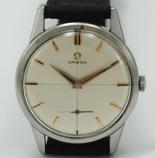 ANTIQUE OMEGA 14391-3 CALIBER 268 CASE 34 MM STEEL WATCH