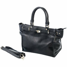 Handtasche: Damenhandtasche, schwarz (Damen Tasche)