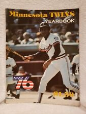 BEAUTIFUL Minnesota Twins 1976 Yearbook, Rod Carew Cover, VERY CLEAN!!