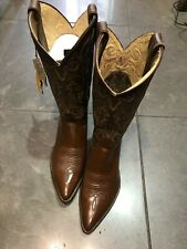 justin boots brown Leather size 7 C