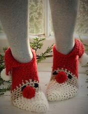 Crochet PATTERN - Santa Slippers/Socks - Christmas Gift FREE P & P