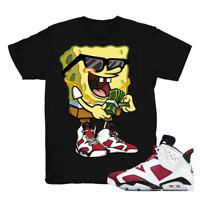 Shirt for Air Jordan 6 Retro ''Carmine'' Unisex Tshirt |Sponge-Black Shirt