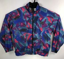 Reebok Vintage Retro Women's Medium M Full Zip Windbreaker Track Jacket Hip Hop