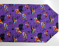 Disney Purple Halloween Table Runner New Mickey Goofy Donald Minnie Costumes