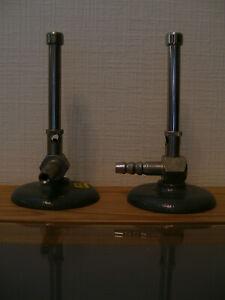 Bunsenbrenner Laborbrenner Labor für Erdgas schwerer Standfuß neuwertig