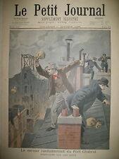 FORT CHABROL POLICE REDDITION TOITS DE PARIS LE PETIT JOURNAL 1899