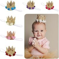 Baby Princess Flower Headband Headwear Crown Tiara Lace Hair Band