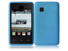 For TracFone LG 840g Rubber SILICONE Soft Gel Skin Case Phone Cover Sky Blue