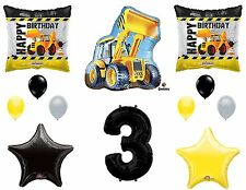 12pc CONSTRUCTION BALLOONS new 3rd THIRD birthday TRACTOR party FAVORS truck