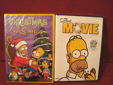 NEW LOT OF 2 BART SIMPSON DVD'S THE SIMPSON MOVIE+CHRISTMAS WITH THE SIMPSONS