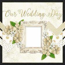 THE WEDDING COVERS - 2 Premade Scrapbook Pages - EZ Layout 668