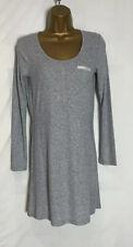 High Street Grey Fine Rib Stretch T-Shirt Nightdress Size Small  (S)