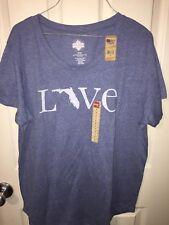Women's Blue Heather STATE OF MINE Florida Tee Shirt Top Size Medium NWT
