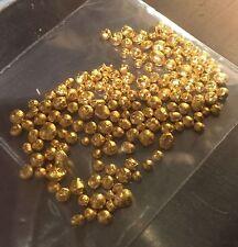 25 GRAINS .999 CLEAN PURE FINE 24K GOLD SHOT, ROUND NUGGET, BULLION, NOT SCRAP