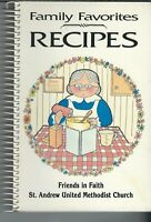 SA-038 GA, Marietta Family Favorite Recipes St. Andrew United Methodist Cookbook