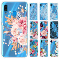 For Samsung Galaxy M10 M20 A30 A50 Clear Painted Soft Silicone TPU Case Cover