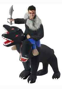 Evil 3-Headed Dog Ride On Inflatable Adult Costume