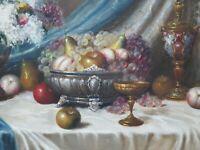 Still Life Oil Painting, Oil on Canvas Framed Painting, Béla Balogh (1909-1980)
