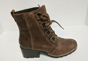 Sorel Cate Lace Booties, Brown Leather, Women's 9 M