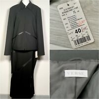 Verse 2 Piece Skirt Suit in Black - Size Medium /40 - Smart Office RRP £185