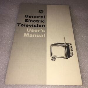 1964 GENERAL ELECTRIC TELEVISION USERS MANUAL & SCHEMATICS