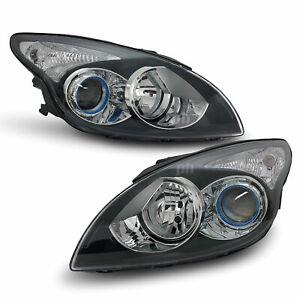 Headlights Black Projector PAIR fits Hyundai i30 FD 10-12 Hatch & Wagon
